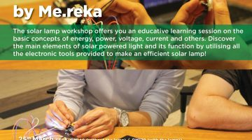 Mereka Workshop : Solar Lamp Workshop by Me.Reka