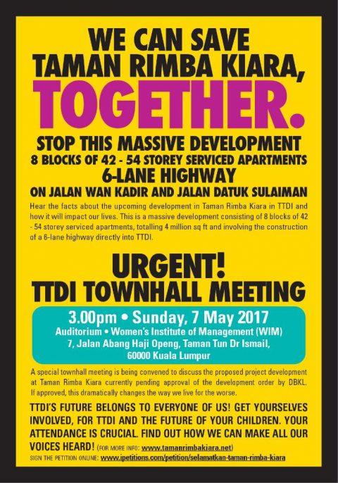 Townhall meeting about development on Taman Rimba Kiara