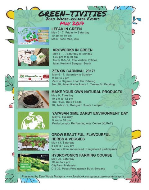 Green Events on May 2017