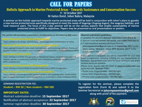 Seminar on the Holistic Approach to Marine Protected Areas – Towards Sustenance and Conservation Succcess