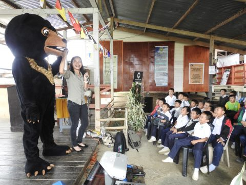 Introduction to Sun Bear using Sunny, the mascot