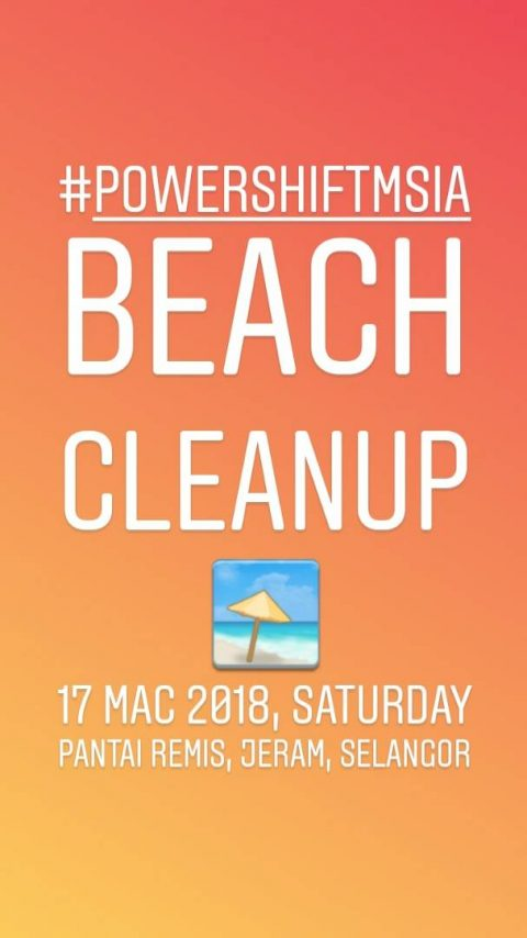 PowerShiftMsia Beach Cleanup 2018
