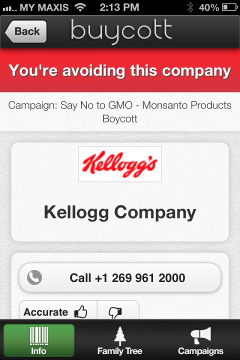 Ops... it seems Kellogg's Corn Flakes is linked to Monsanto... better not buy it then