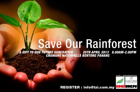 Save Our Rainforest @ Chamang Waterfalls!