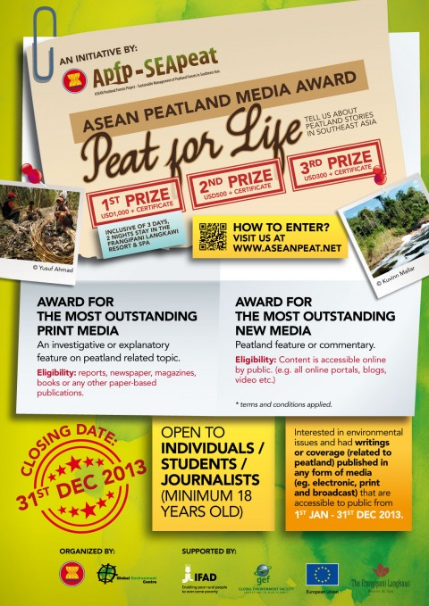 "Green Award for Media: ASEAN Peatland Media Award ""Peat for Life"""