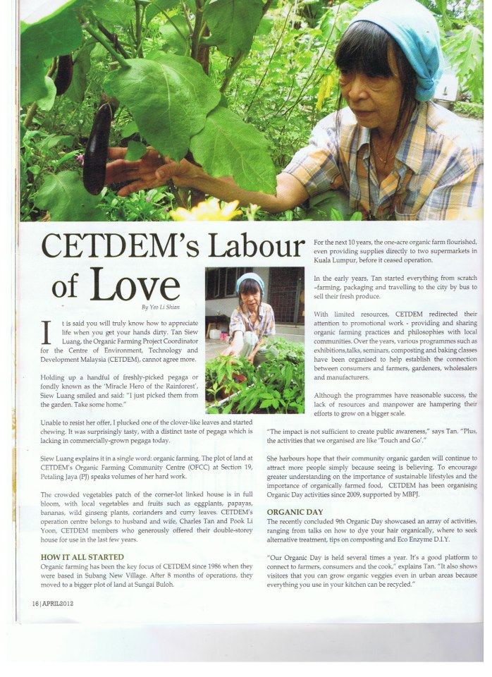 CETDEM Labour of love