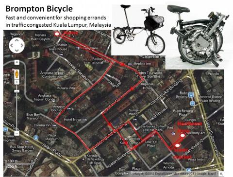 Folding Bicycle in Kuala Lumpur – a real time saver!
