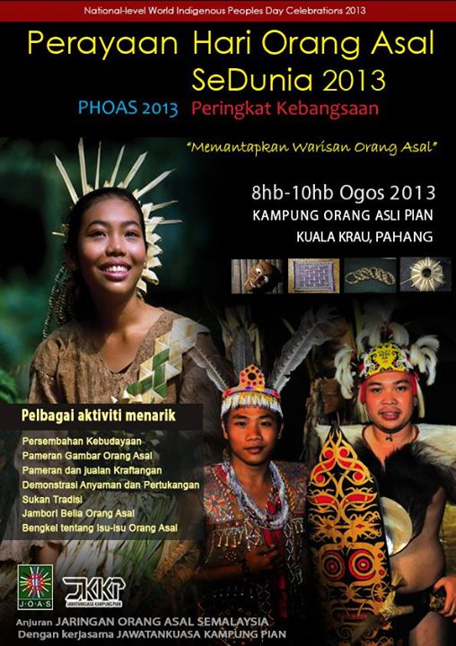 National level world indigenous people celebration 2013