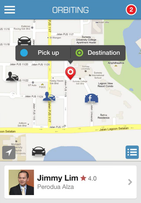 Brief overview - See a brief overview of the user by tapping the icons on the map