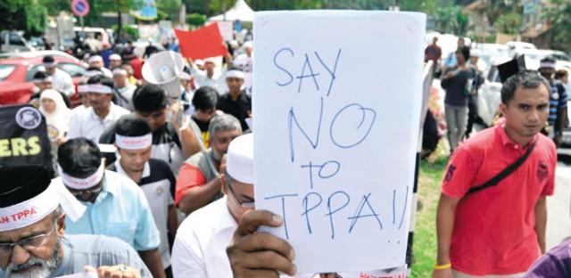 TPPA Protest in Malaysia
