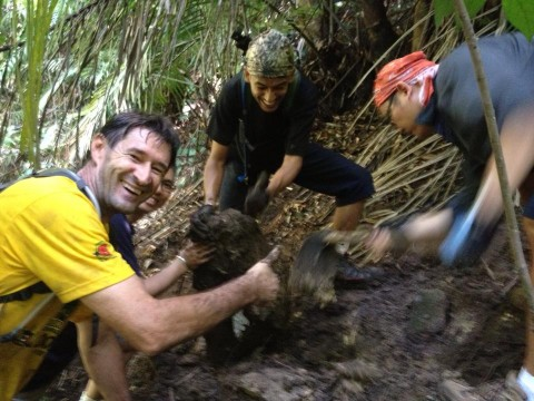 Trail-building at KDCF