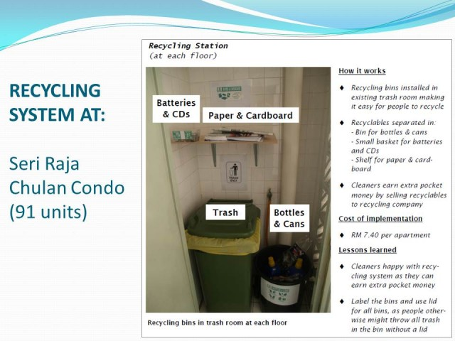 Condo Recycling, by Gregers Reimann, Malaysia