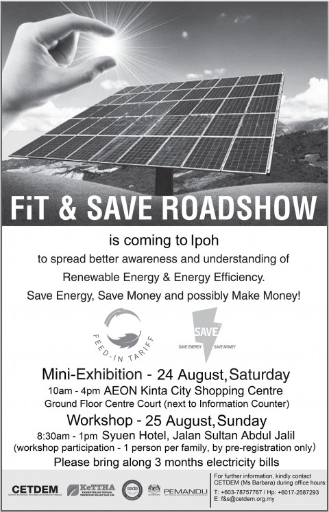 FiT & SAVE Roadshow, Ipoh