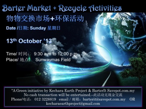 Barter Market + Recycle Activities!!!