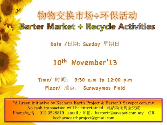 Barter Market 10th Nov 2013
