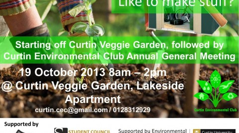 Starting off Curtin Veggie Garden, followed by AGM