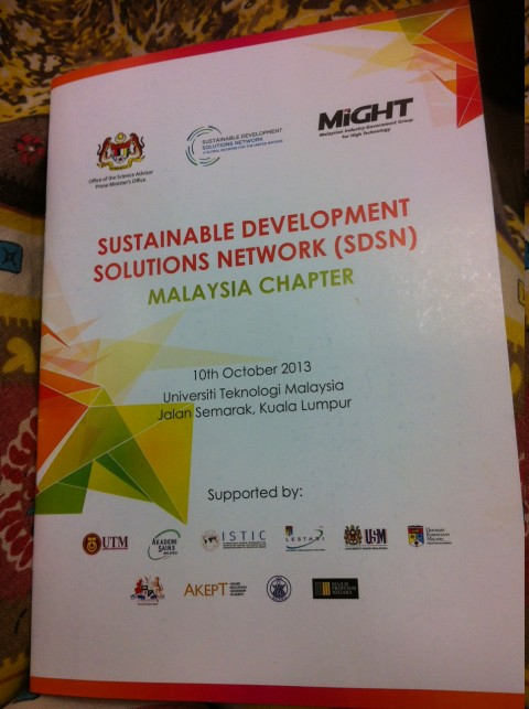 Material provided for the SDSN launch in Malaysia