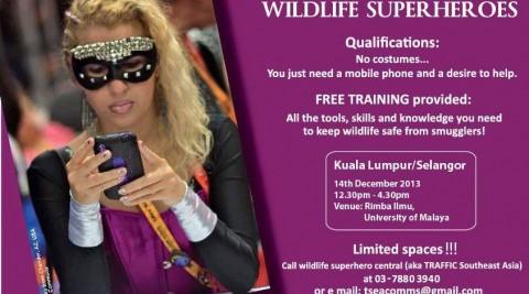 Wildlife Superheroes workshop in Kuala Lumpur