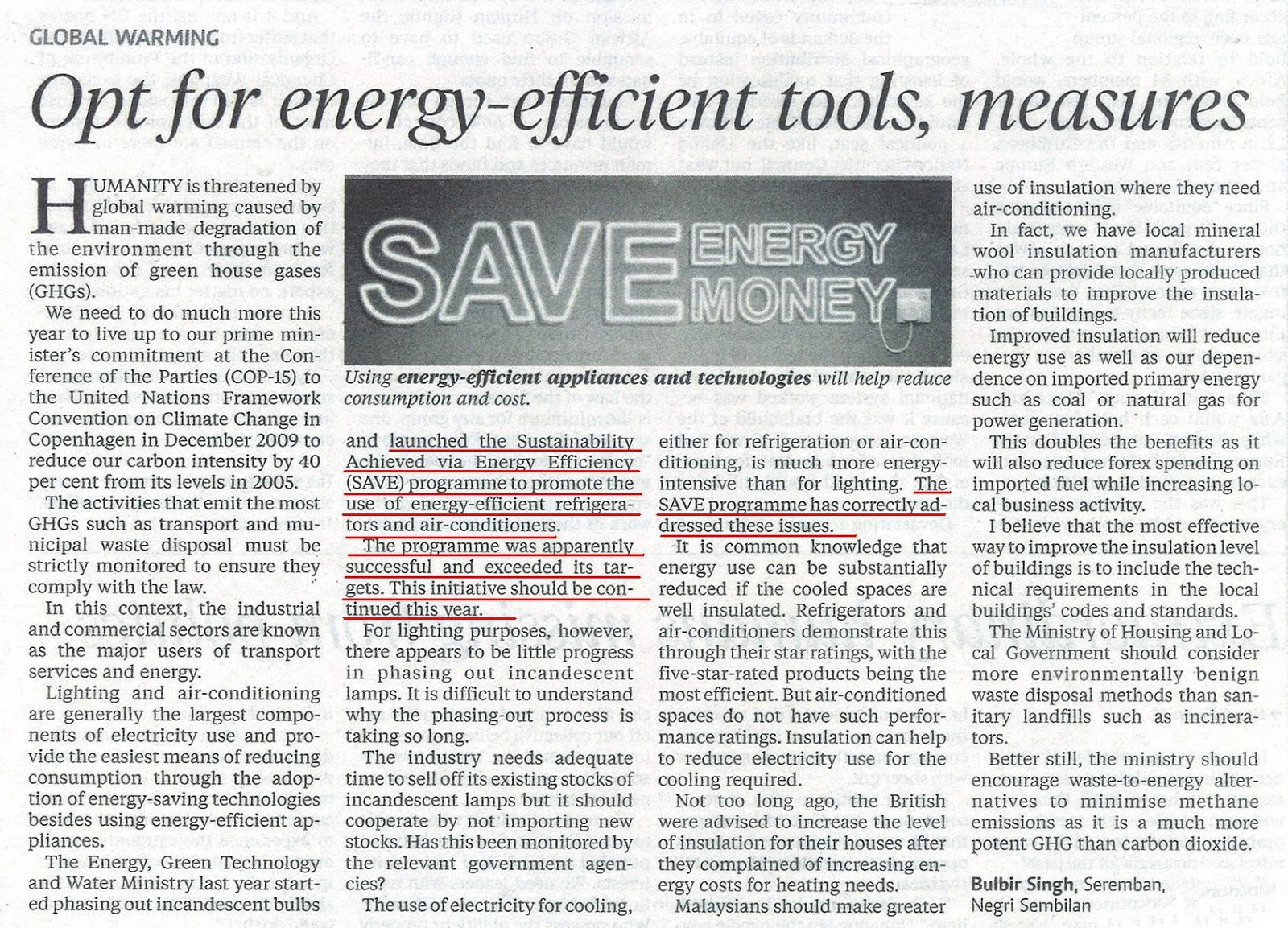 SAVE Article (Credits to Dr Zaini)