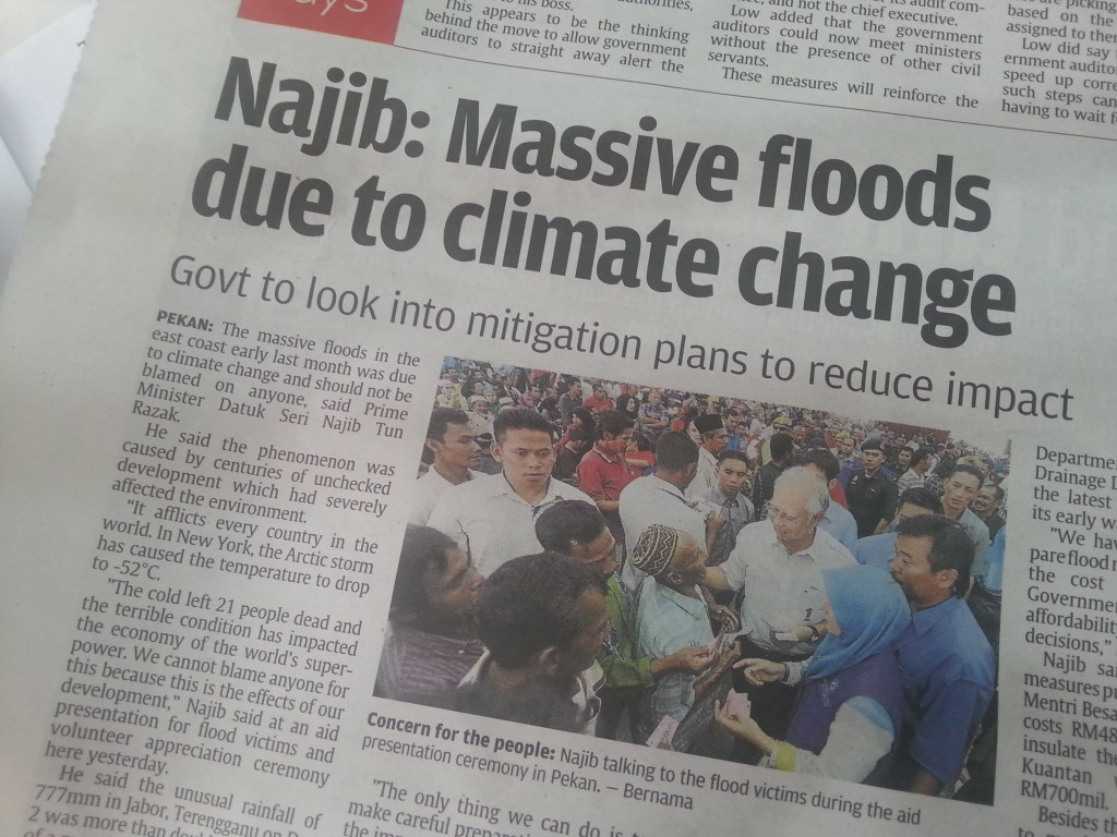 Najib: Massive Floods Due to Climate Change