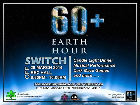 Earth Hour 2014 @ Curtin Sarawak