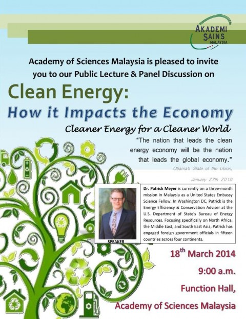 Public Lecture & Panel Discussion on Clean Energy