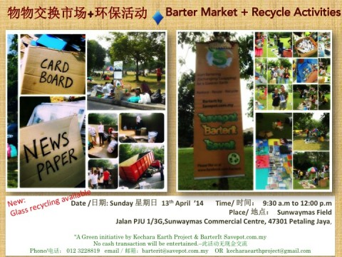 "A ""Barter Market + Recycle Activities"" for our Earth…"