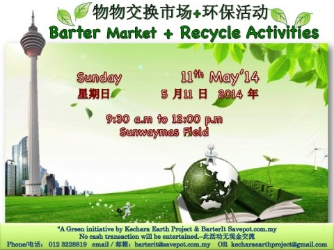 Barter Market + Recycle Activities for our beloved Mother Earth