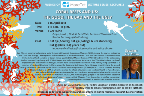 Talk on CORAL REEFS @ Friends of MareCet Lecture Series