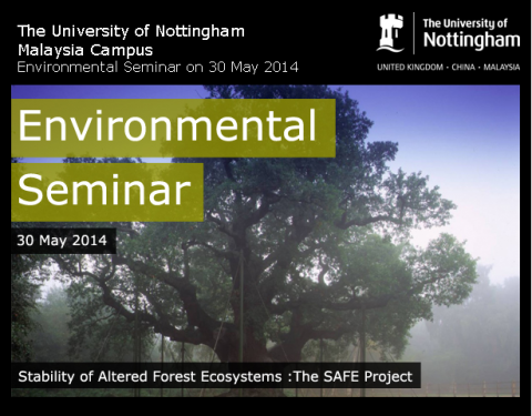 UNMC Environmental Seminar Series: Stability of Altered Forest Ecosystems: The SAFE Project