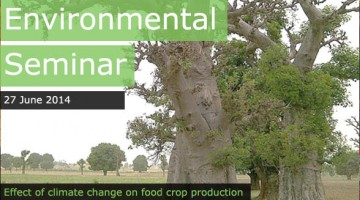 Effect of climate change on food crop production