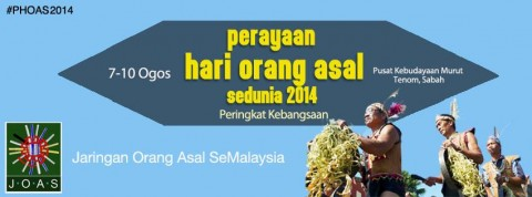 Perayaan Hari Orang Asal SeDunia 2014 (Peringkat Kebangsaan)