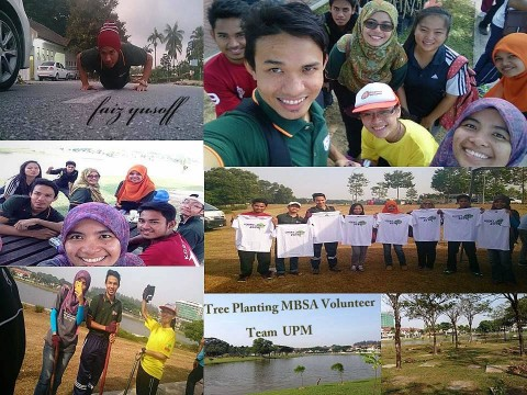 Shah Alam Trees for Life June 2014 with coursemates (credits go to Faiz)