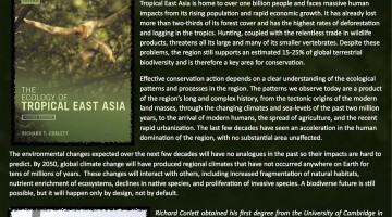 Book Launch – The Ecology of Tropical East Asia, Second Edition. By Richard Corlett