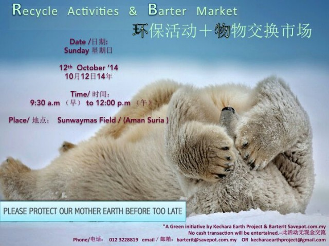 Barter Market & Recycle Activities 12th Oct 2014