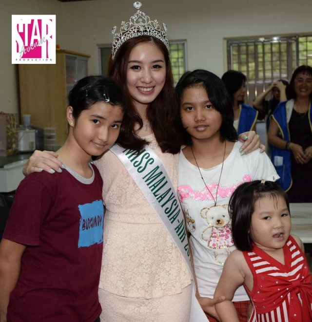 CHARITY ACTIVITIES OF CHARMAINE LOH, MISS MALAYSIA AIR 2013