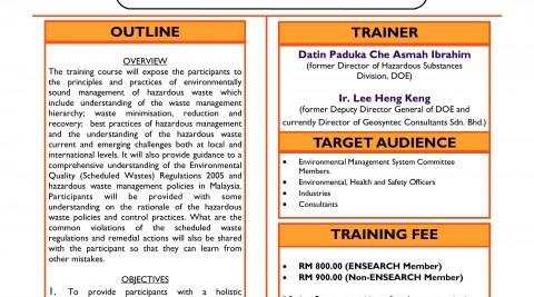 Training Title: Hazardous Waste Management & Compliance Training