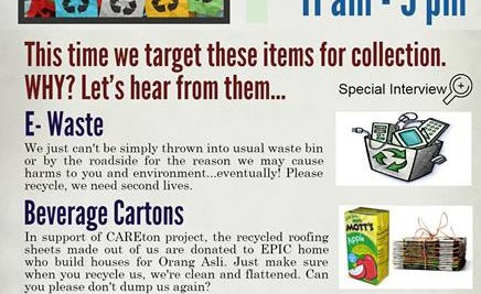 E-waste, Beverage Carton and Unused Medication Collection Day
