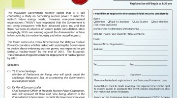Forum: Is Nuclear Power an Option for Malaysia?