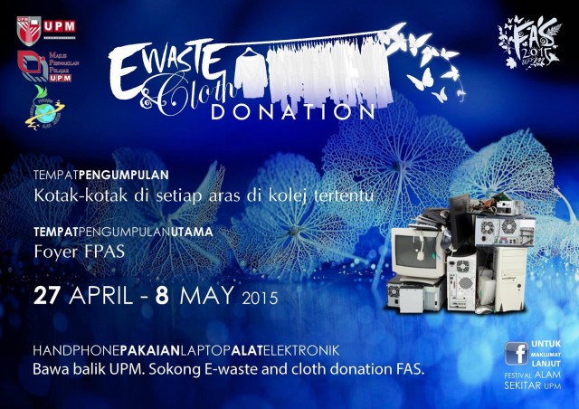 e-WASTE DONATION and CLOTH DONATION !