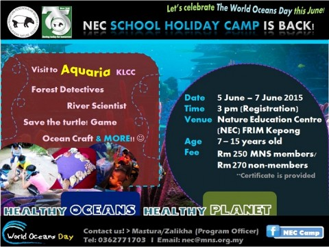 NEC School Holiday Programme – Healthy Ocean, Healthy Planet