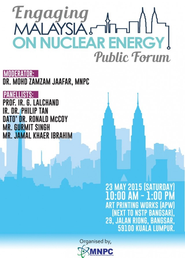 Flyer Public Forum on Nuclear Energy
