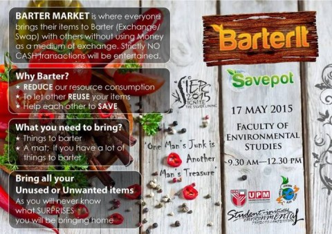 "Barter Market at ""Ignite The Silver Lining Carnival 2015"" in UPM :)"