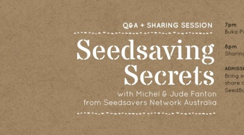 Sharing Session: Seedsaving Secrets with Michel & Jude Fanton