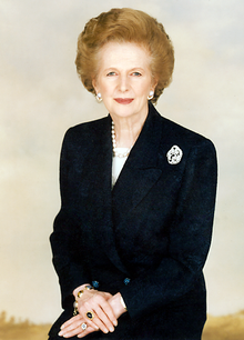 Margaret Thatcher, Prime Minister of the United Kingdom between 1979 and 1990