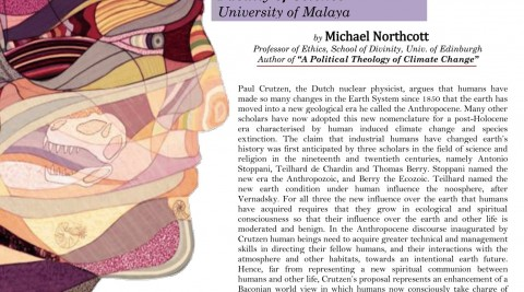 ETHICS in the Anthropocene: Environmental Responsibilities in the Age of Humans | Public Lecture by Prof. Michael Northcott