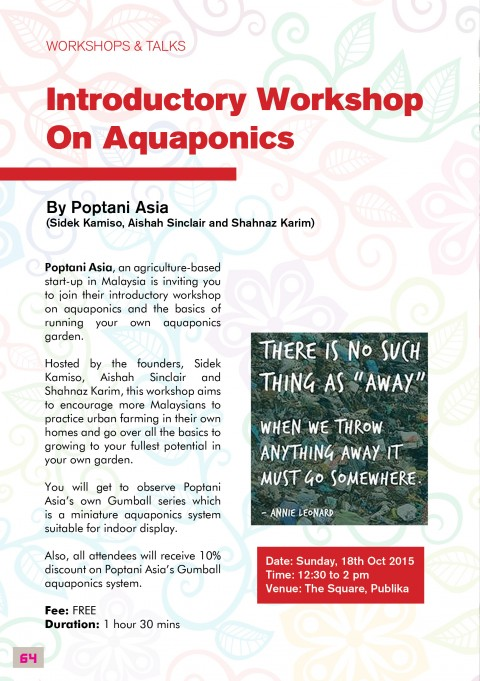 Introductory Workshop on Aquaponics