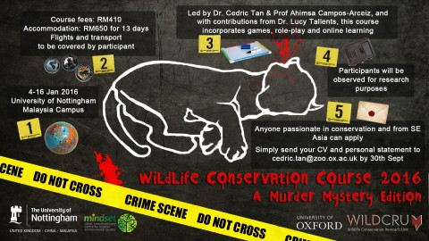 A Murder Mystery Wildlife Conservation Course in Malaysia