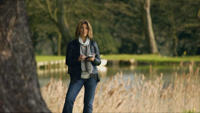 Naomi Klein at Chicheley Hall in the United Kingdom. Still from This Changes Everything.