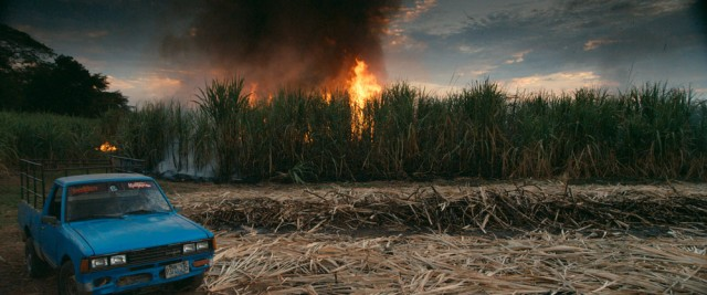 Burning Sugar Cane Field in El Salvador. Still from This Changes Everything.